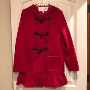 Red dress coat for child